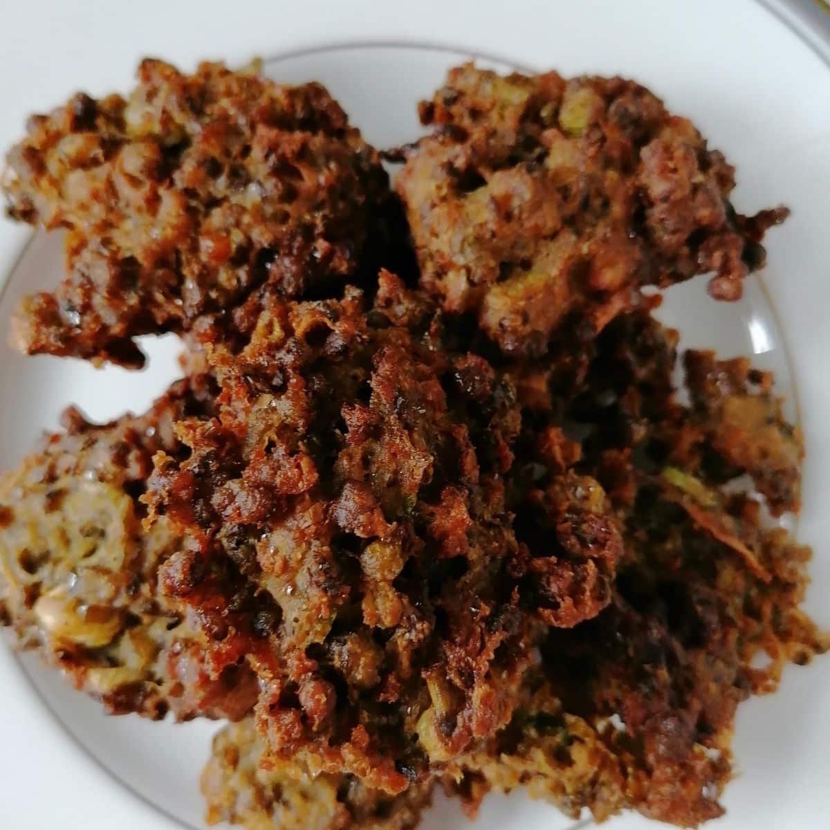Perkedel Kacang Hijau - Indonesian mung bean fritters