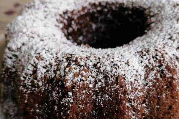 Sponge cake with chocolate flavour