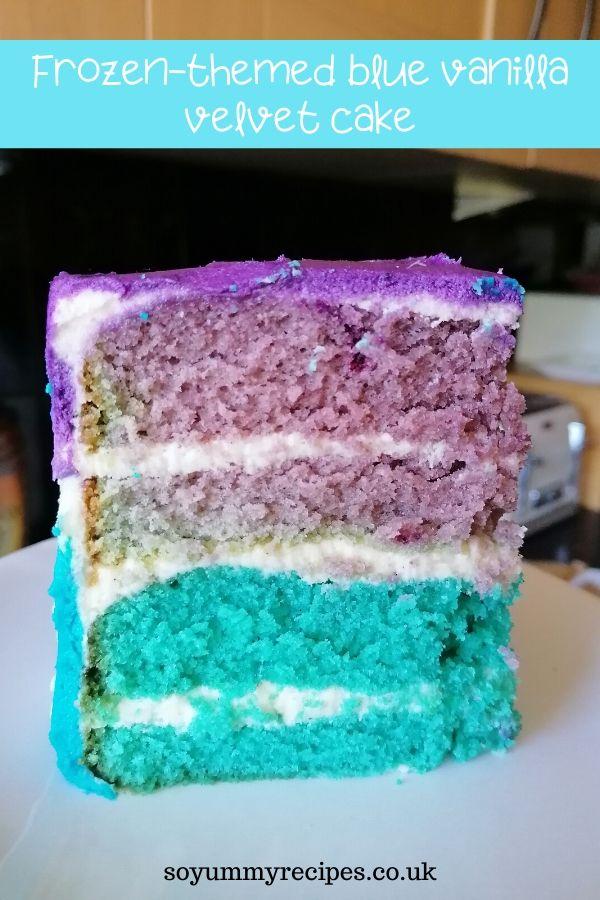 Velvet cake Vanilla flavour