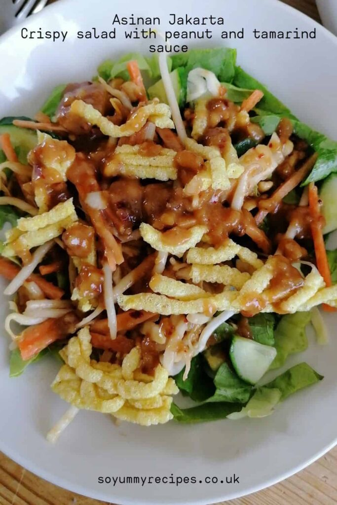 Indonesian salad with peanuts and tamarind sauce - Asinan Jakarta