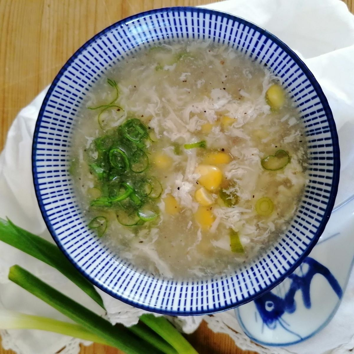 Indonesian chicken sweetcorn soup
