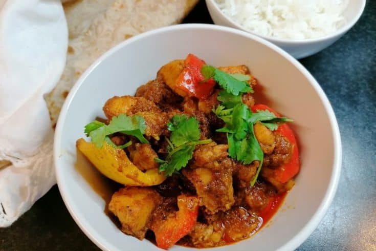 Chicken and peppers curry Pakistani style