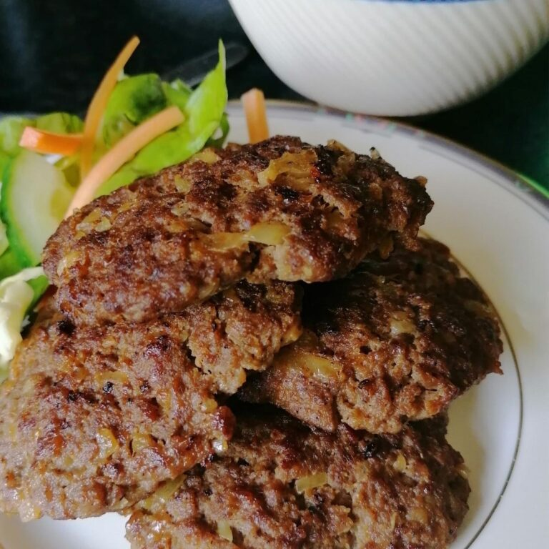 Lamb burger kebab: perfect to cook on griddle pan or barbecue
