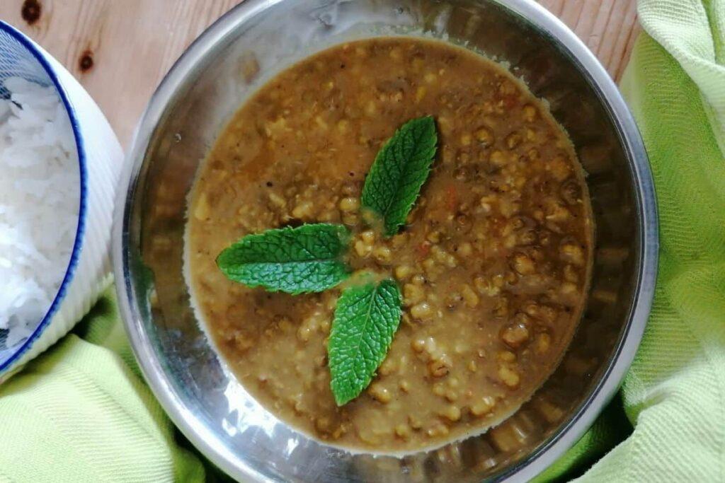 Mung bean curry - whole mung bean dal recipe