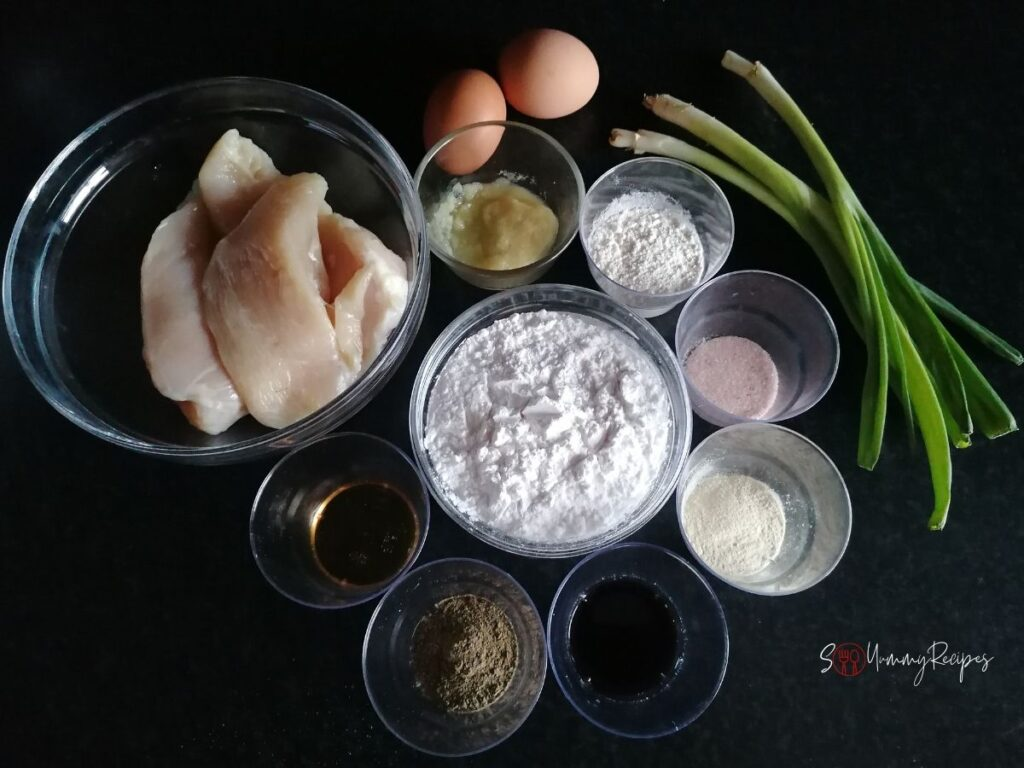 ingredients for chicken wontons
