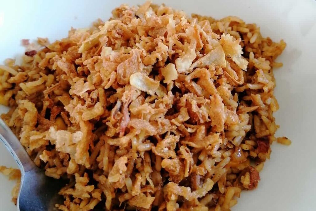 Indonesian nasi goreng tuna