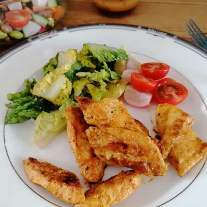 Chicken tikka strips Pakistani style