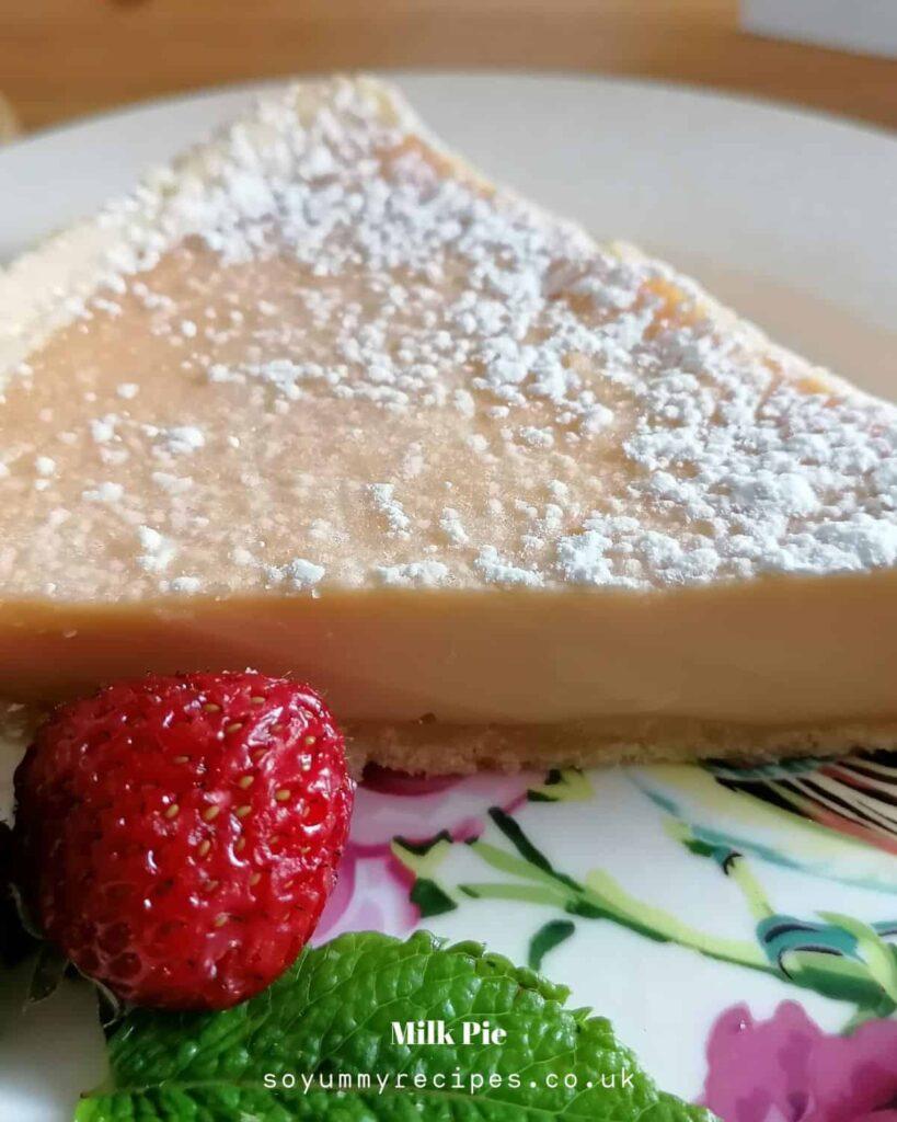 Custard pie with evaporated milk