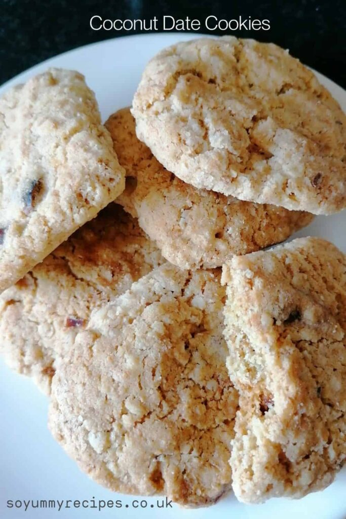 Coconut dates cookies - deliciously scrumptious
