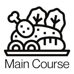 main course icon to jump in