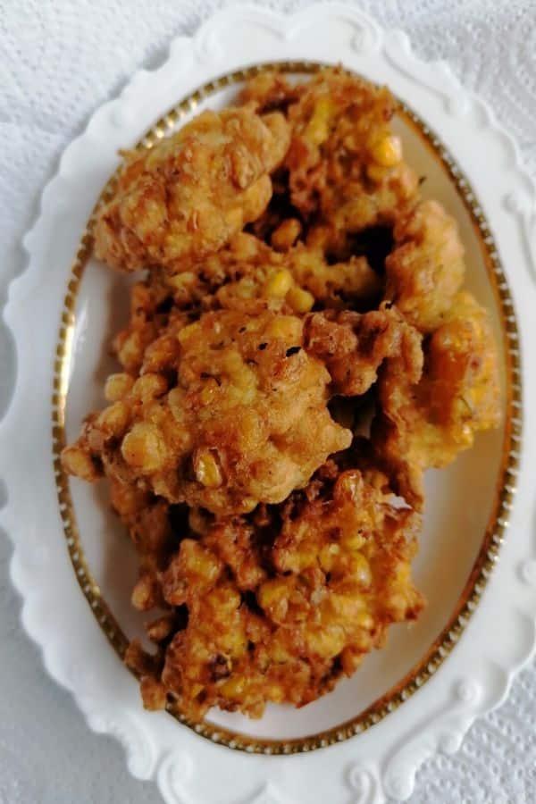 sweet corn fritter