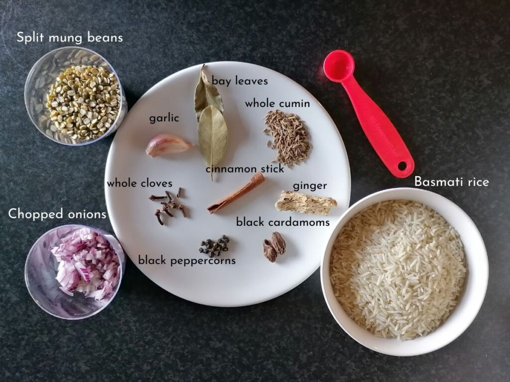 ingredients for kitchari