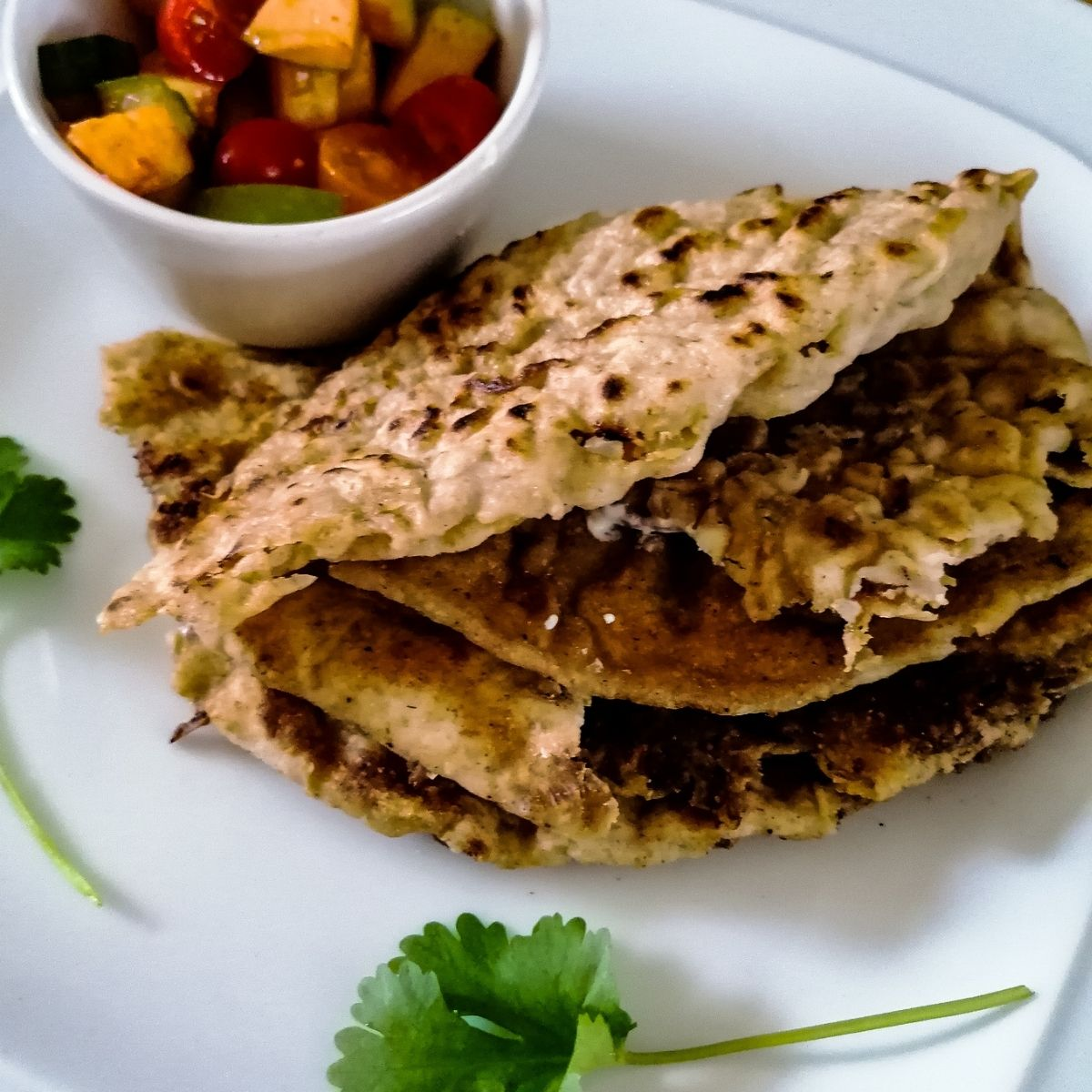 Pakistani keema paratha - the flatbread with minced meat filling