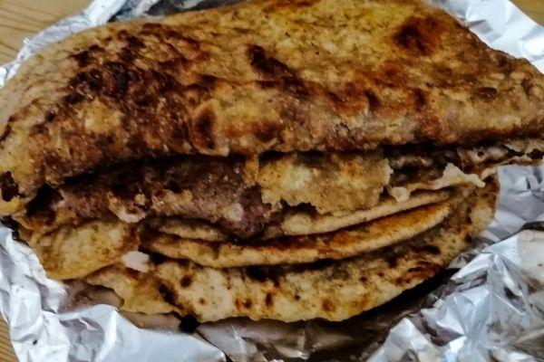 ready cooked keema paratha
