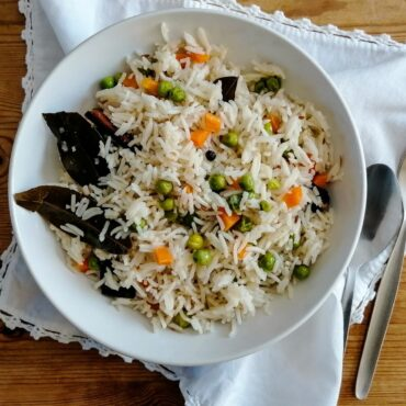 Vegetable pilau rice - Pakistani style