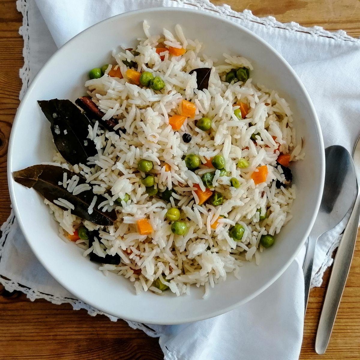 Vegetable pilau rice - Pakistani style