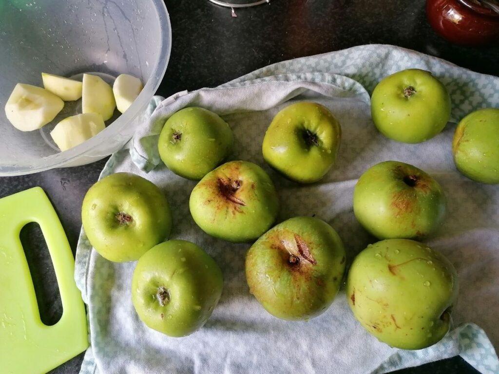 Bramley apples for the jam