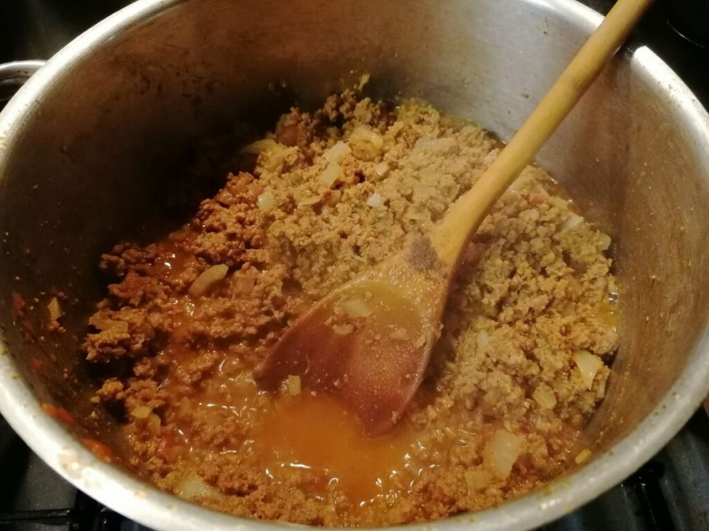 cooked minced meat