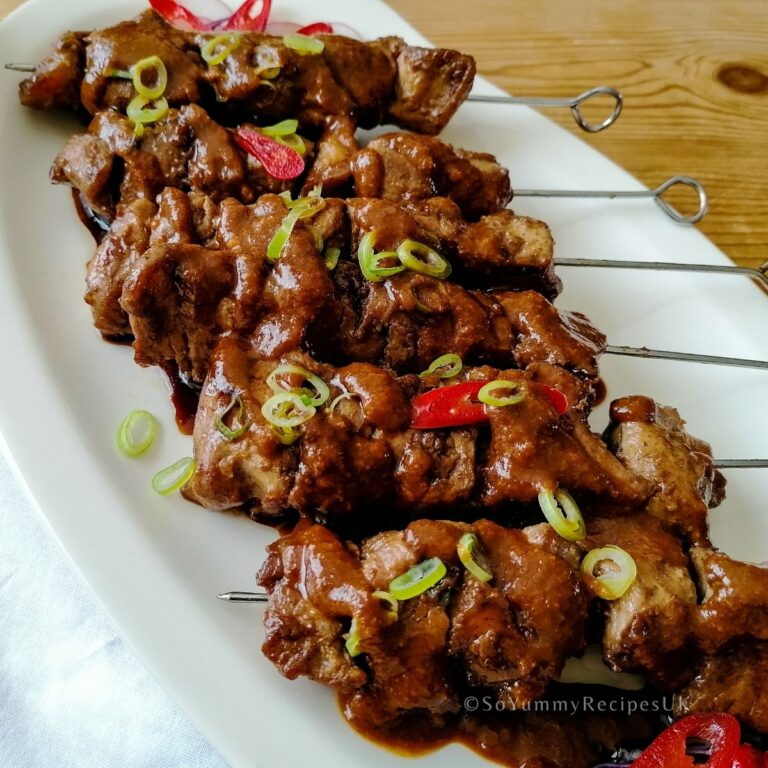 Indonesian Chicken Satay Recipe – Sate Ayam
