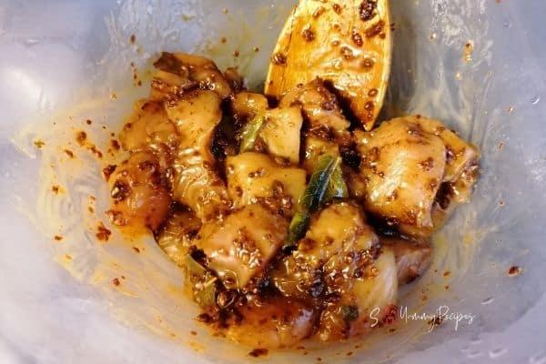 chicken in marinade