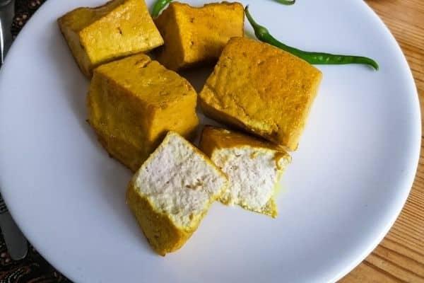 ready made yellow tofu