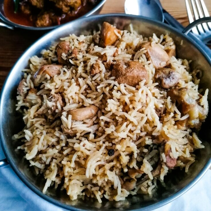 Chicken pilau rice Pakistani style