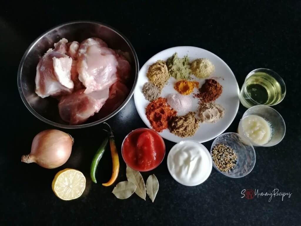 ingredients for achari chicken