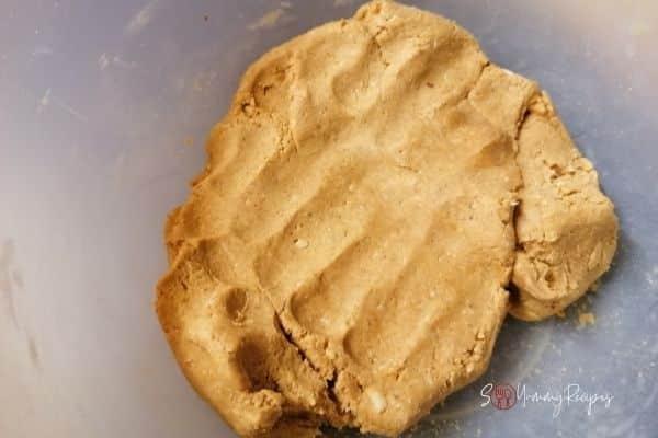 Besan Ladoo dough mixture