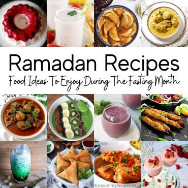 photo collage of foods for Ramadan Recipes