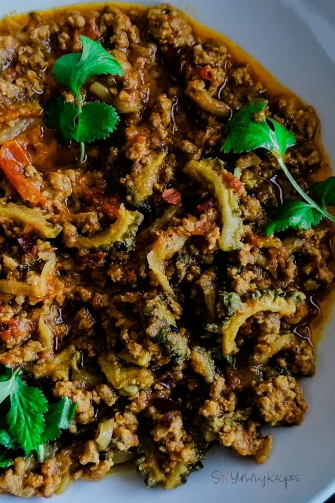 Keema Karela - Minced Meat With Bitter Gourd Curry
