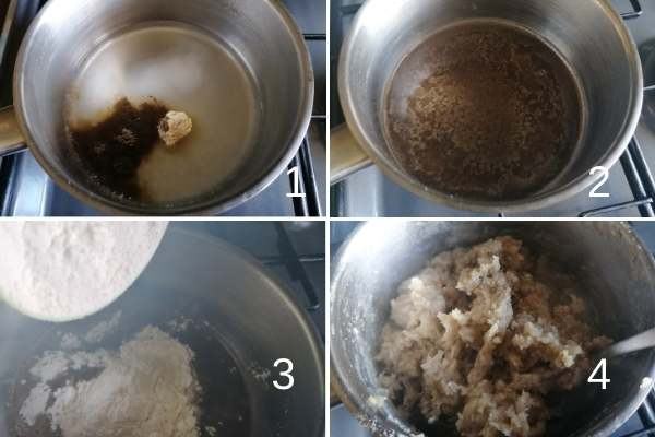photo collage of how to make dough base