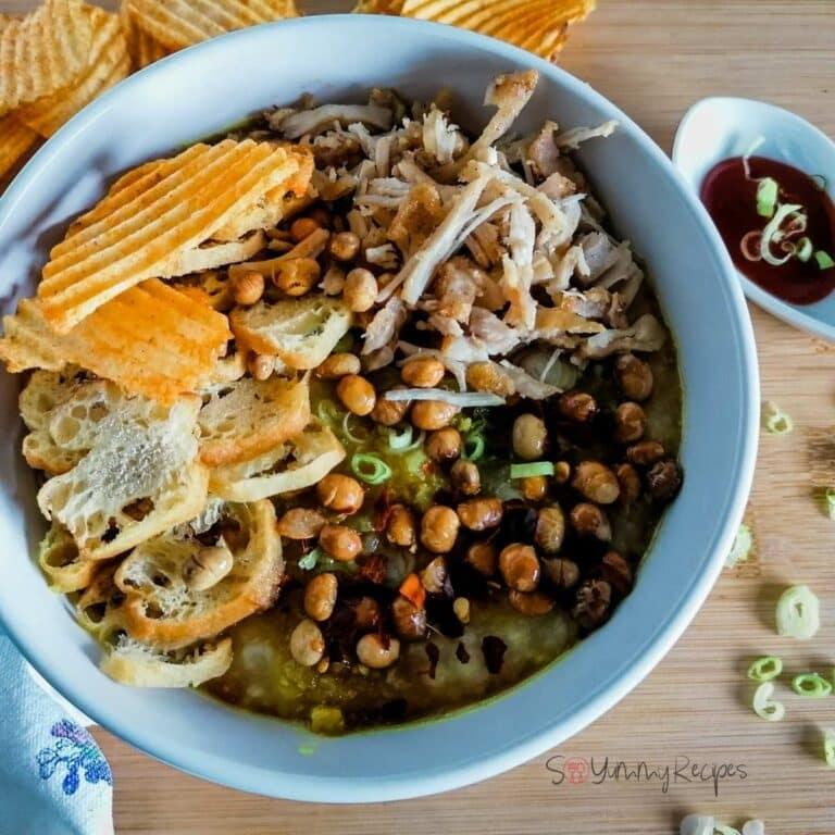 Bubur Ayam Recipe: Indonesian Rice Porridge With Chicken