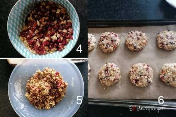 photo collage of making muesli cookies